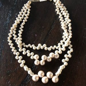 Three string pearl Lia Sophia necklace
